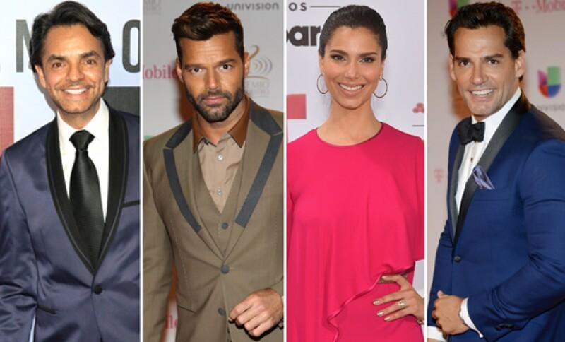 Famosos como Ricky Martin, Roselyn Sánchez, Eugenio Derbez y Cristian de la Fuente expresaron su molestia en contra de Trump debido a sus comentarios hacia México.