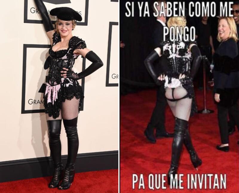 Madonna robó suspiros y miradas con su atuendo de red carpet.