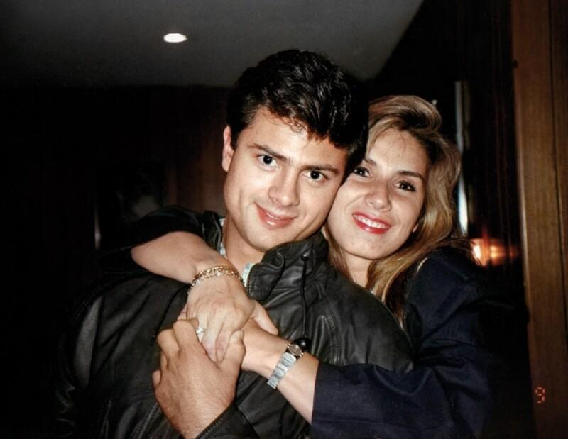 Enrique Peña Nieto con Mónica Pretelini