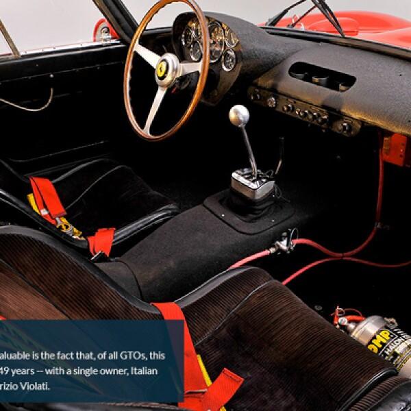 3.Este auto es más valioso, a diferencia de otros GTO, porque en sus 49 años de vida solo tiene un dueño, el magnate italiano Fabrizio Violati.