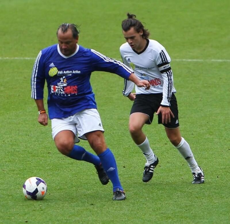 Harry durante el partido.