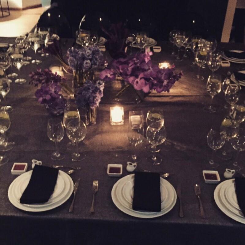 Así decoró Anahí la mesa para sus invitados.
