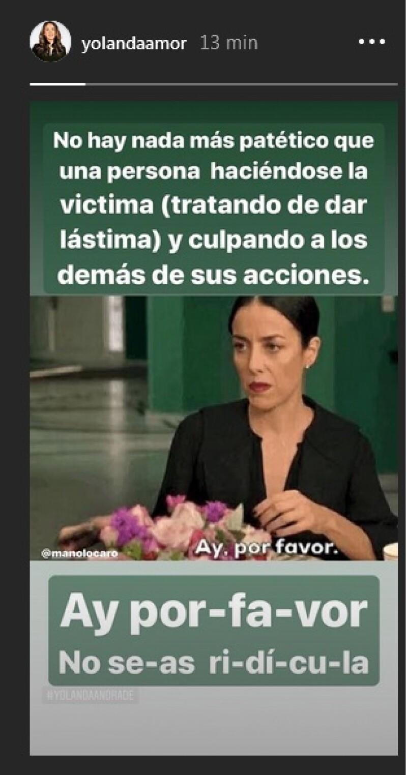Mensaje Yolanda Andrade