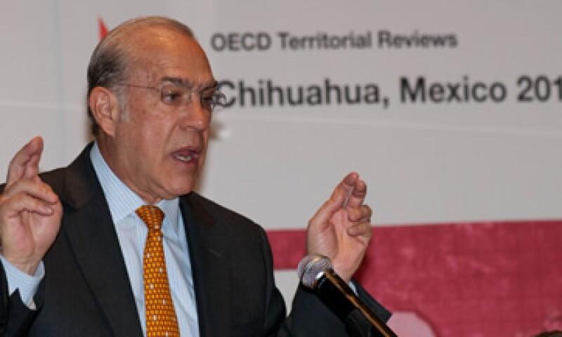 José Ángel Gurría habló también de los retos que tiene ante sí el estado de Chihuahua. (Foto: Notimex)