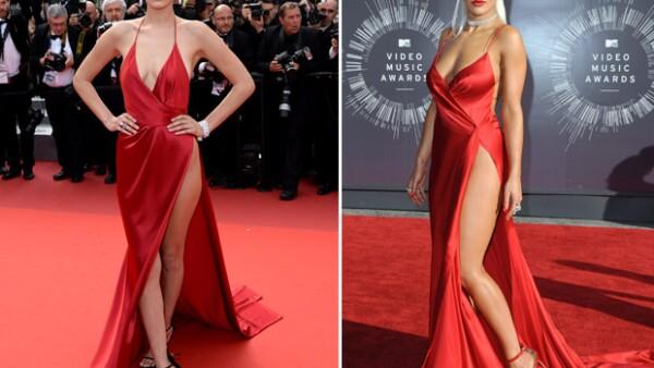 Al parecer, la selección que hizo la modelo de 19 años no fue del todo original pues, dos años atrás, la cantante británica había usado este mismo diseño.