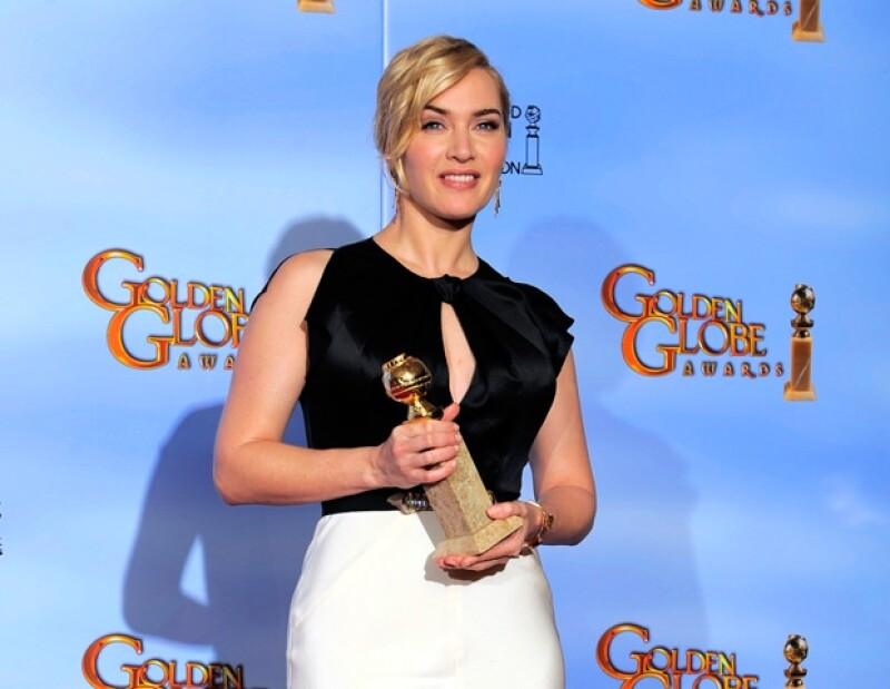 Kate Winslet se llevó el Globo de Oro a Mejor Actriz en Mini Serie de Televisión en Mildred Pierce.