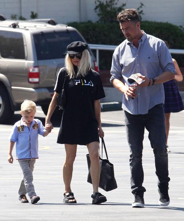 Fergie y su familia