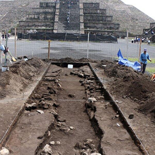 Los cráteres fueron encontrados cerca de la Calzada de los Muertos