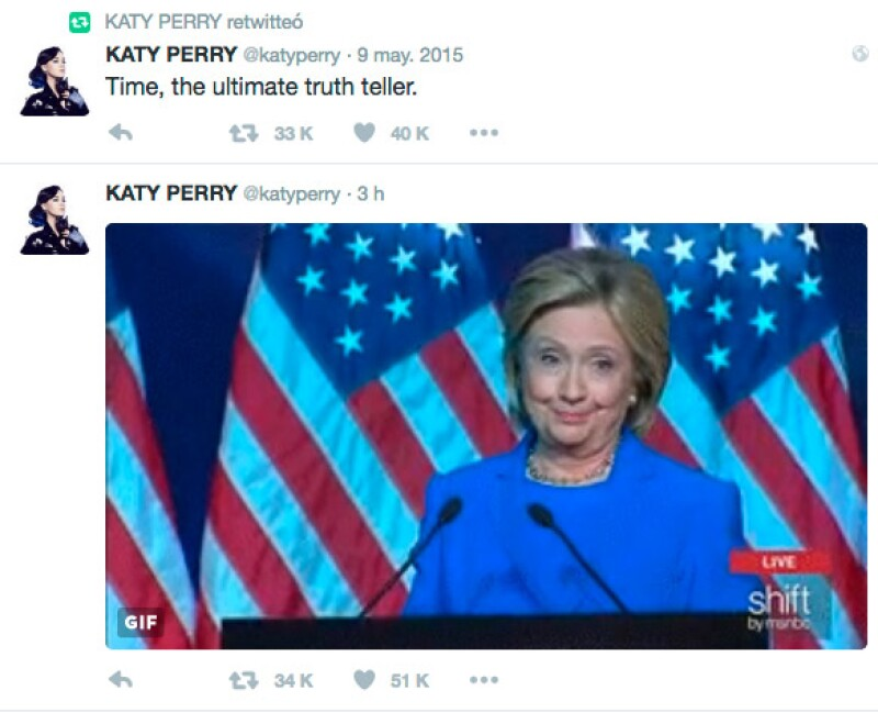Y esta fue la respuesta de Katy.