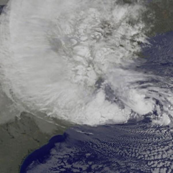 huracan sandy imagen satelital
