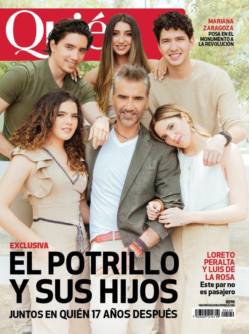 Alejandro Fernández poso junto con sus hijos en la portada Quién 17 años después. Noticias en tiempo real