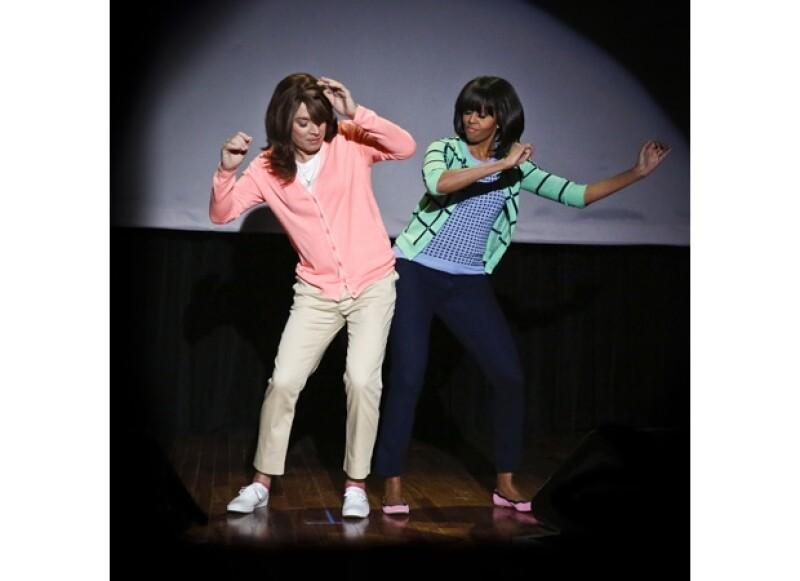 Michelle ha ganado gran popularidad en su país por su carisma y sentido del humor. Aquí en el show de Jimmy Fallon.