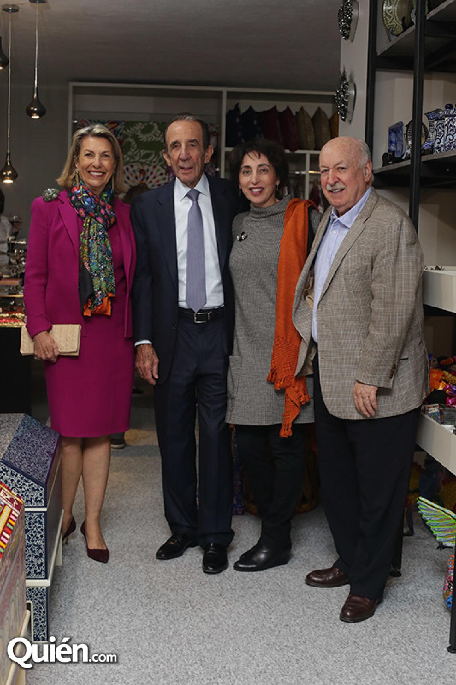 Marie Thérèse y Manuel Arango,Patricia Agraz y Bruno Newman