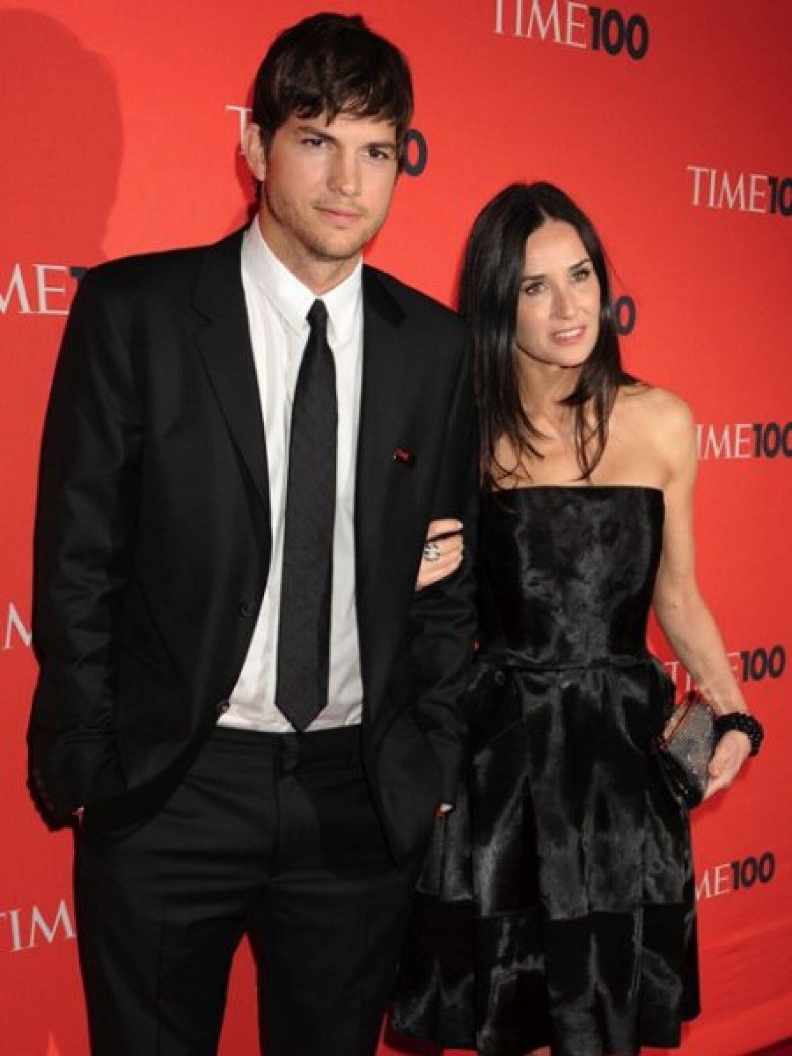 Ashton Kutcher llegó de la mano de su esposa, la actriz Demi Moore