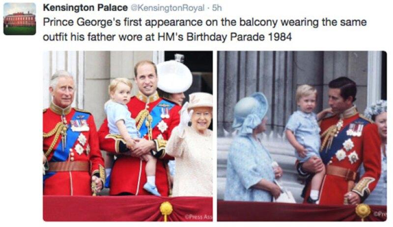 Hace 30 años, su papá usó el mismo outfit.