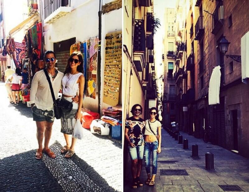 Ambos aprovecharon para fotografiarse en sus diferentes paradas españolas.