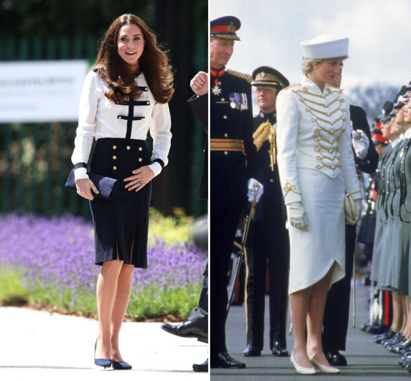 El estilo de la Duquesa de Cambridge ha sido comparado con Lady Di, fashion icons por excelencia.