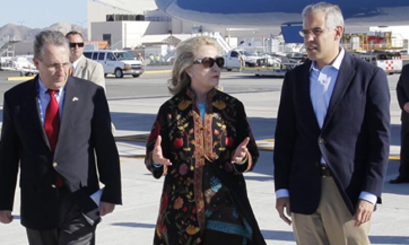 La secretaria de Estado de EU, Hillary Clinton, llegó al centro turístico desde el sábado. (Foto: AP)