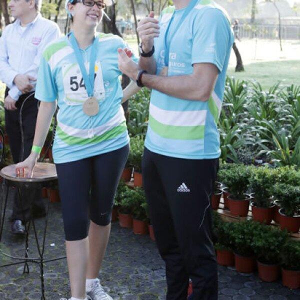 Mariana Rodas y Miguel Laporta
