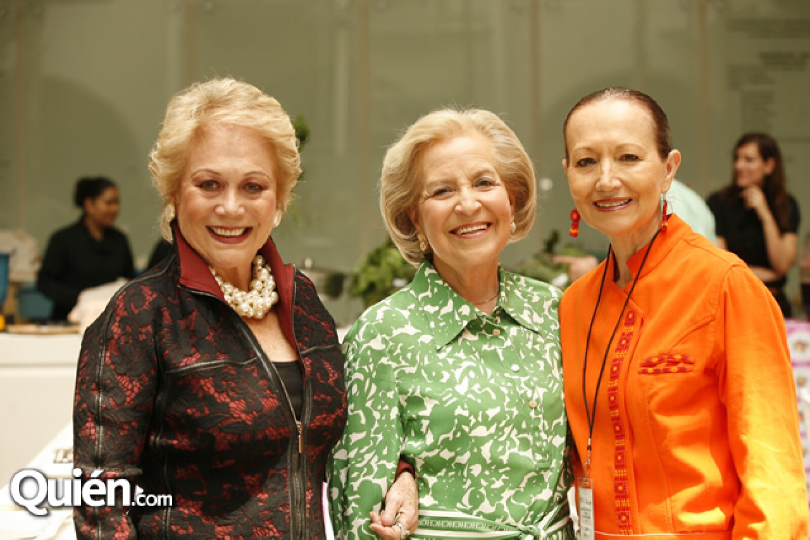 Estela de Piotti, Cristina Beltrán y Patricia Quintana