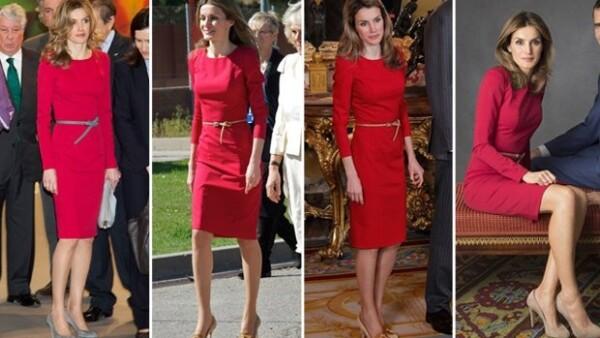 Después de tantas críticas que obtuvo por sus atuendos costosos, la princesa de Asturias se ha dejado ver en varios eventos repitiendo vestidos, casualmente todos del diseñador Felipe Varela.