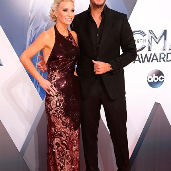 Caroline Boyer y Luke Bryan