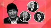 Evo Morales y políticos