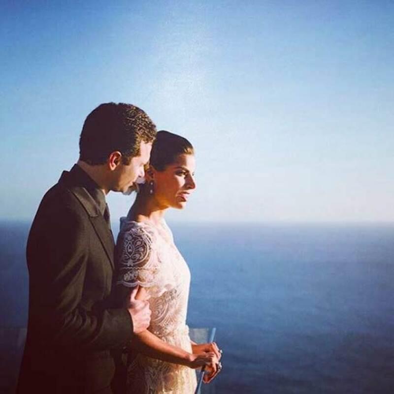 Bárbara y Alejandro se casaron en febrero de este año.