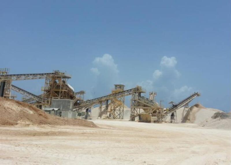 Empresa de piedra caliza en Playa del Carmen, Quintana Roo
