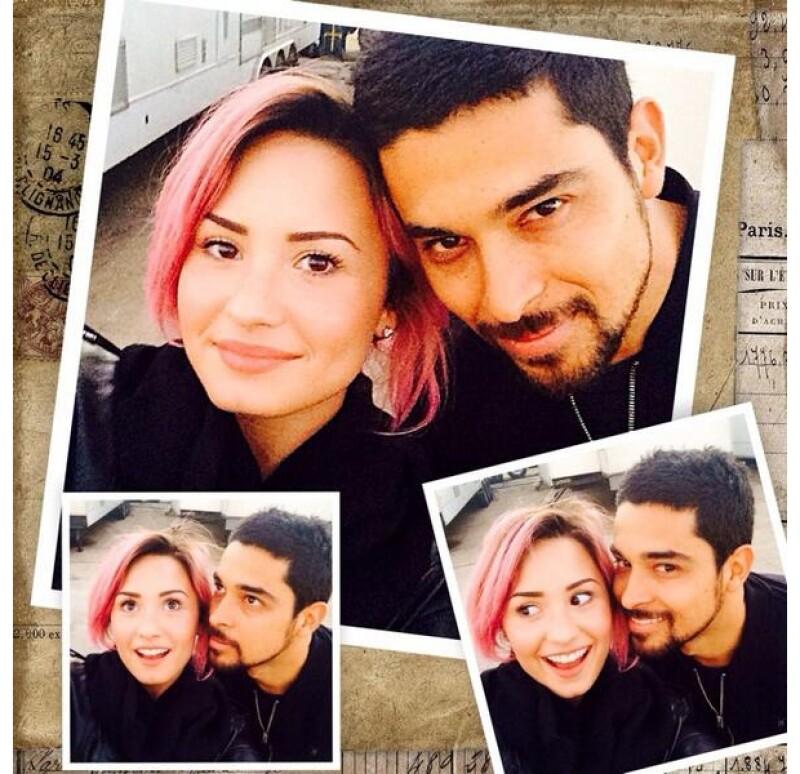 La imagen que compartió Demi junto a Wilmer para felictarlo por su cumpleaños a fines de enero pasado.