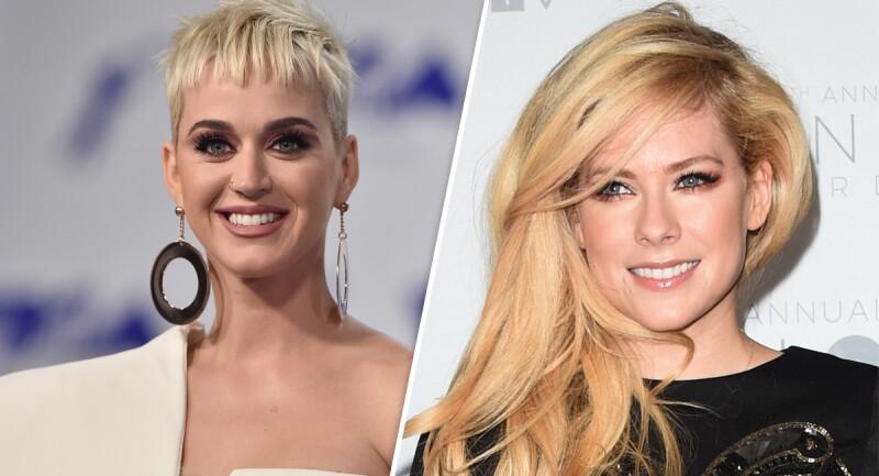 Katy Perry y Avril Lavigne