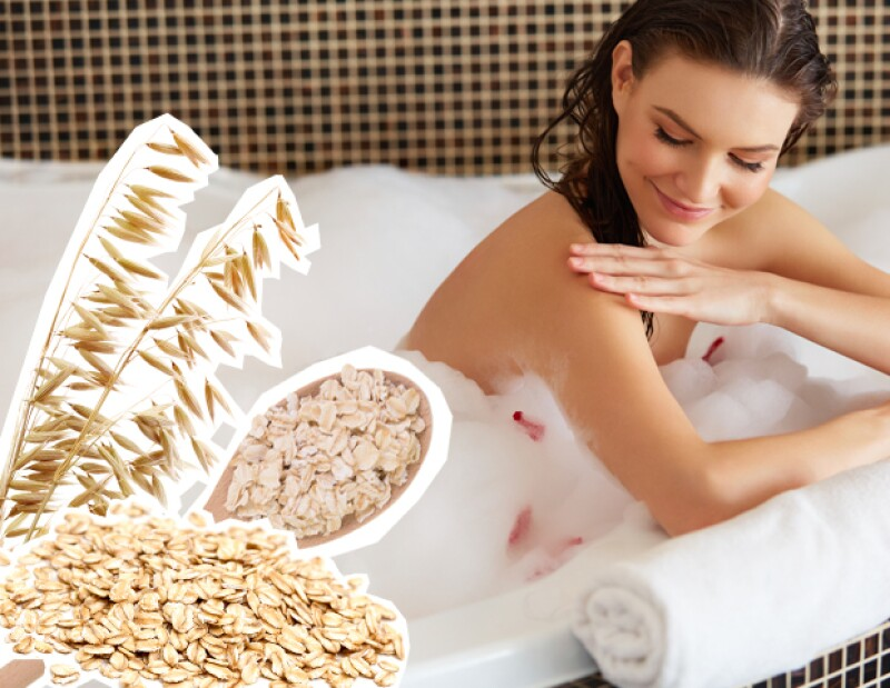 La avena es ideal para los que sufren de reacciones alérgicas en la piel.