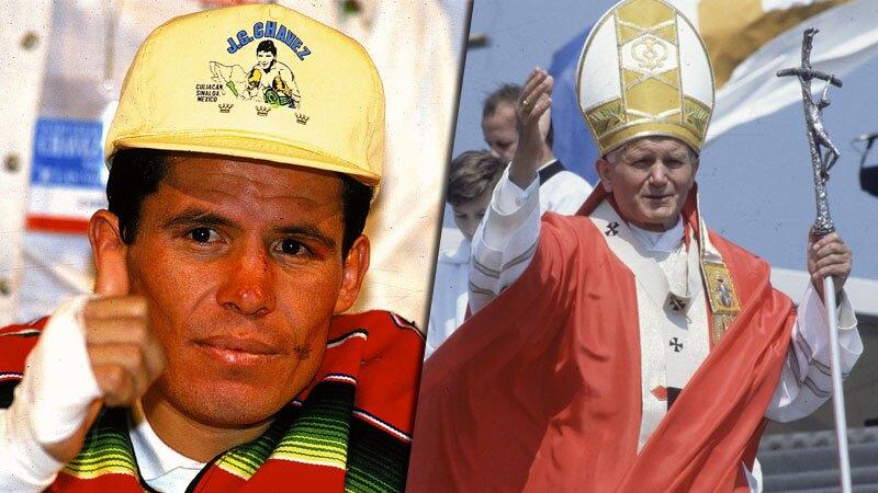 Julio César Chávez y Juan Pablo II