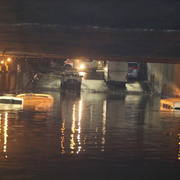 Camiones tapados en Pantitlan