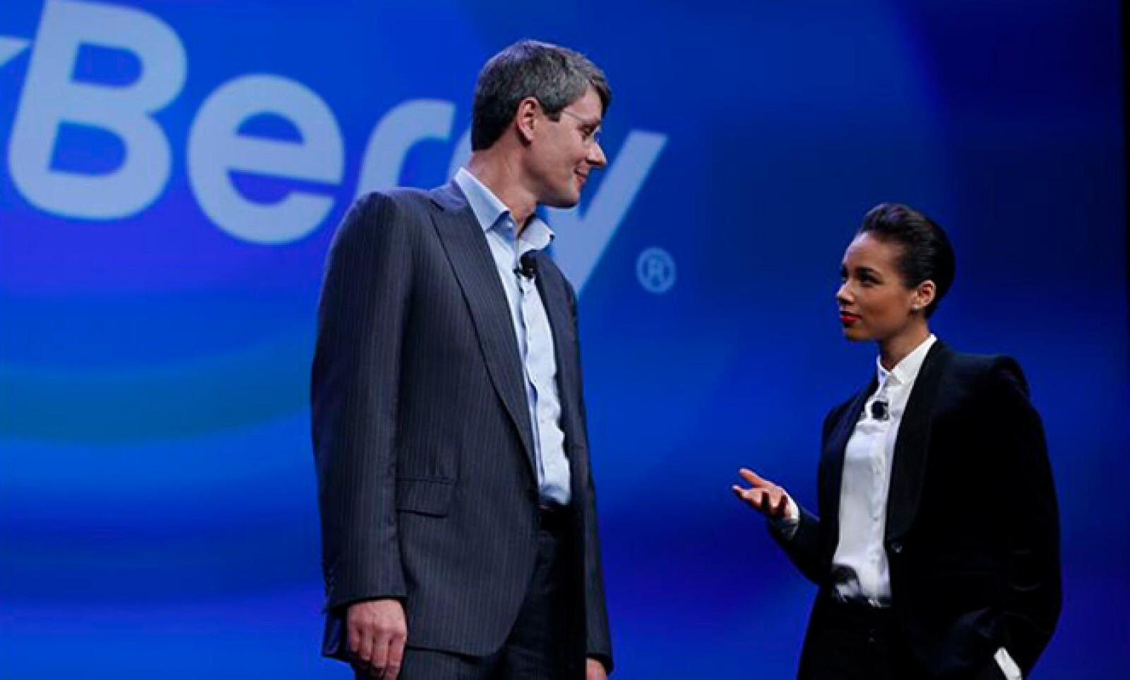 La cantante estadounidense Alicia Keys fue nombrada Directora Global Creativa de BlackBerry.
