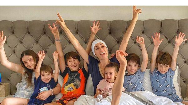 Inés Gómez Mont y sus hijos