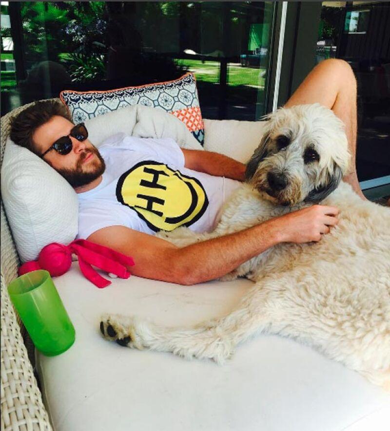 Esta fue la primer foto que Miley publicó de Liam en su cuenta de Instagram.
