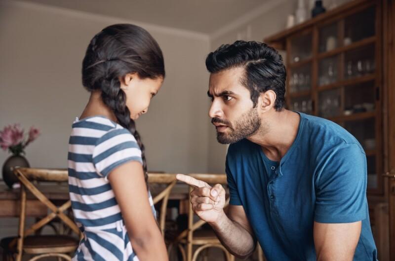 Castigo - menores - niños - padres e hijos