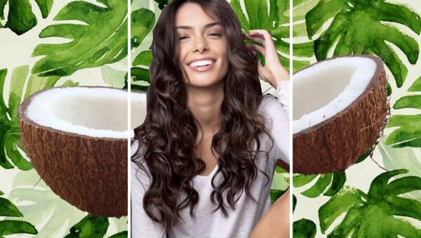 El aceite de coco también ayuda a la salud del pelo.