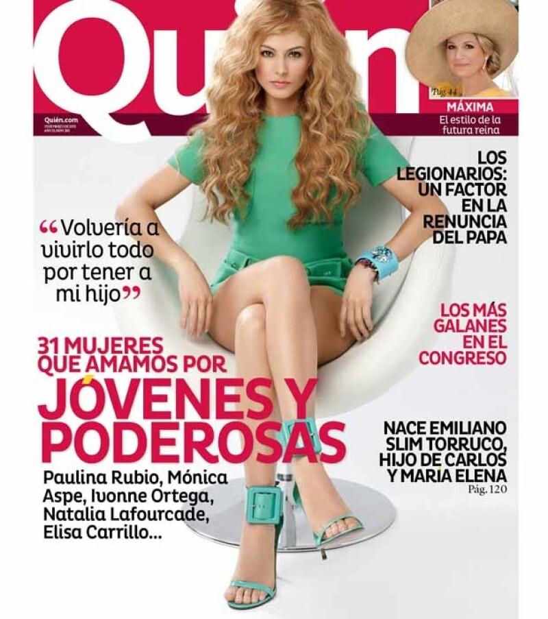 La cantante forma parte de las 31 mujeres que año con año la revista Quién reconoce como las más influyentes en nuestro país.