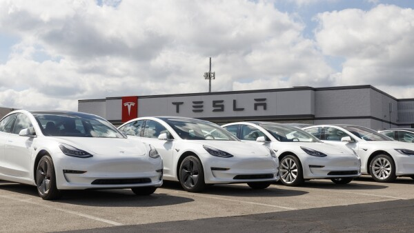 Tesla electric vehicles awaiting preparation for sale. Tesla EV Model 3, S and X are a key to a cleaner and greener environment XI