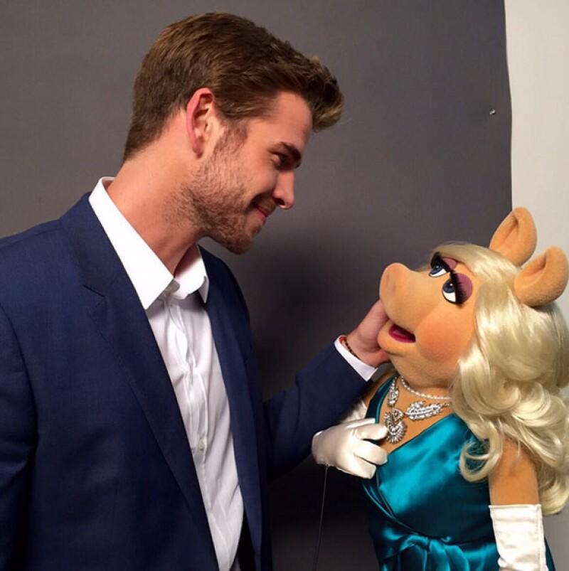 Liam Hemsworth inauguró su cuenta de Instagram con esta foto.