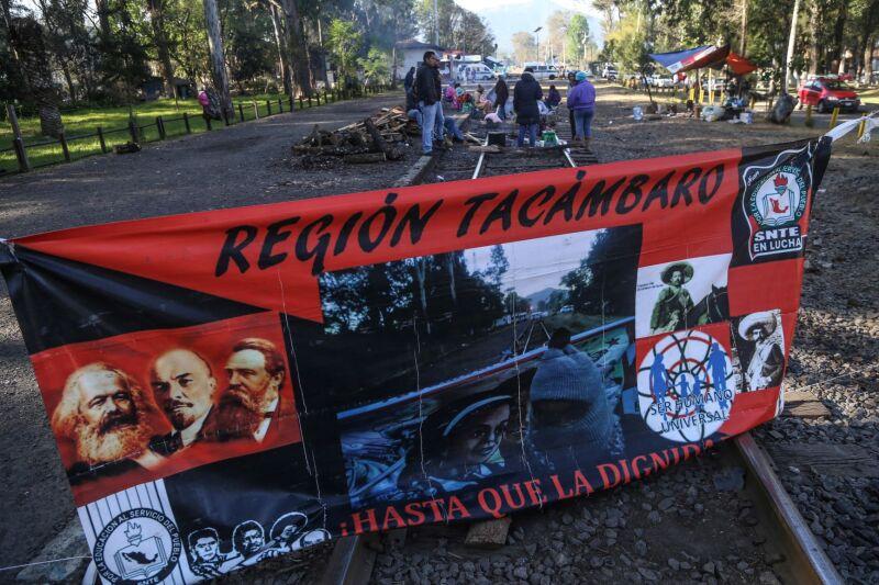 Bloqueo vías férreas Michoacán