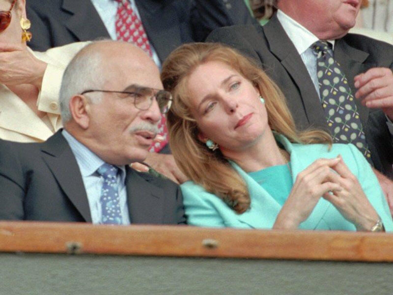 El rey Hussein y la reina Noor de Jordania asistieron a la semifinal masculina de Wimbledon, la cual se disputaron Goran Ivanisevic y Pete Sampras el 7 de julio de 1995.