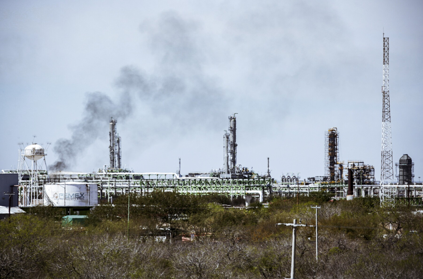 A general view of Mexican state oil firm Pemex's Reynosa refinery