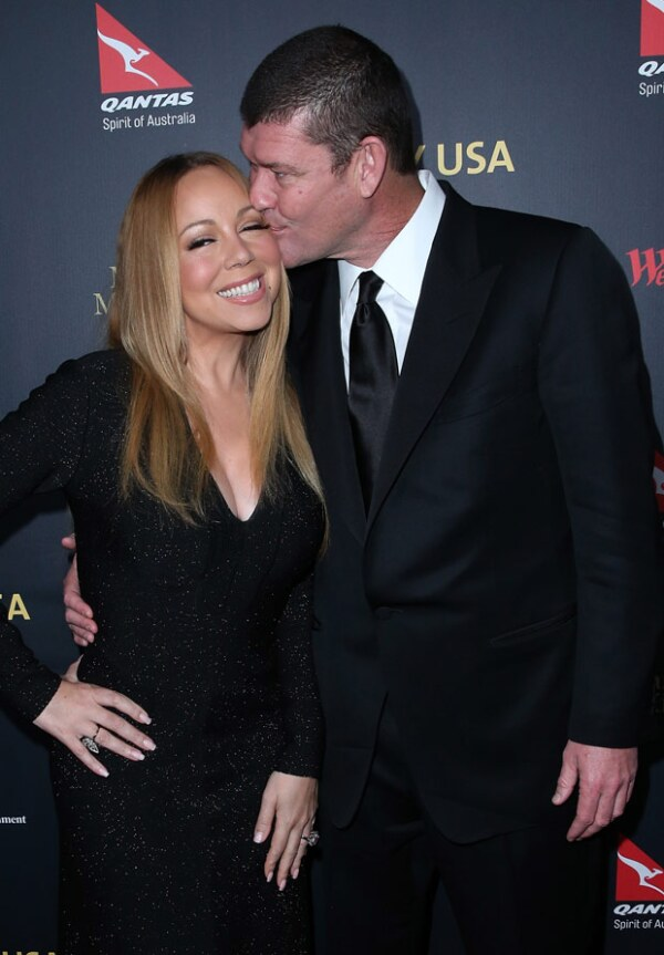Mariah está comprometida con el billonario australiano James Packer.
