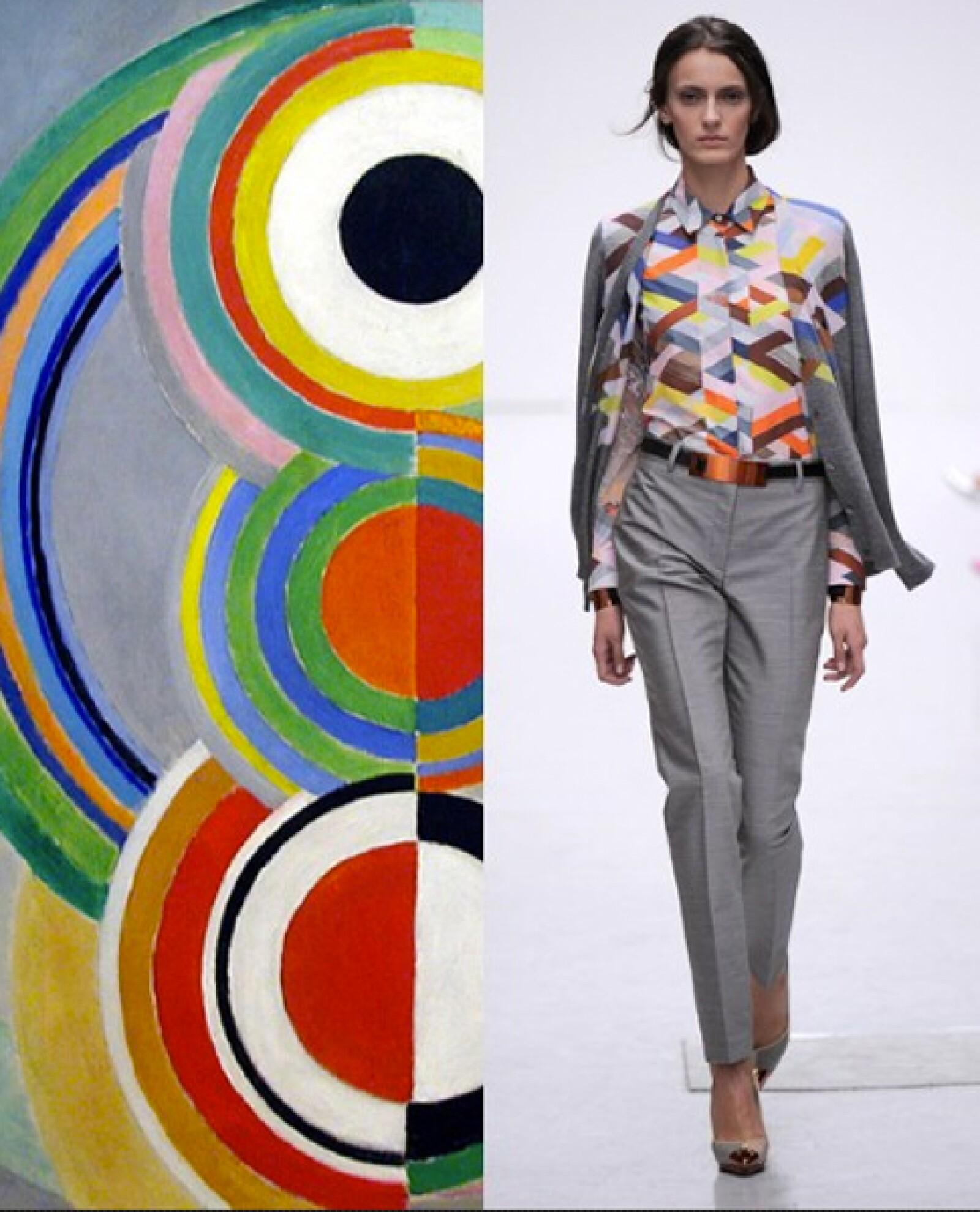 Los motivos geométricos en varias tonalidades de la firma Pringle  remiten a la obra de Sonia Delauney.