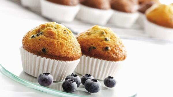 Los muffins de blueberry contienen la misma cantidad de azúcar que una Coca Cola