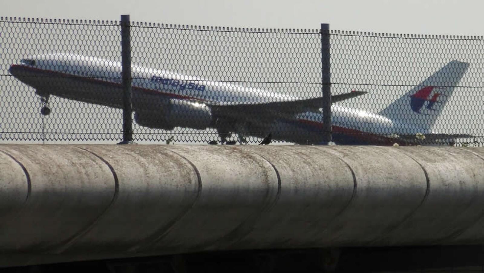 La aeronave al momento de despegar de Holanda este jueves