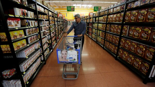 FILE PHOTO: Customer shops at a Walmart store in Monterrey